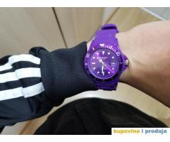 Moderni ljubičasti gumeni sat