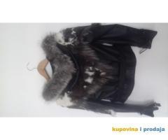 Kožna jakna sa krznom ženska