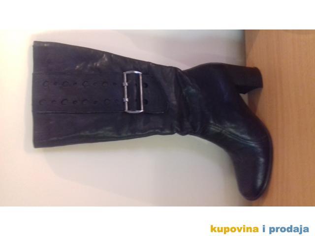 Prodajem crne kozne cizme