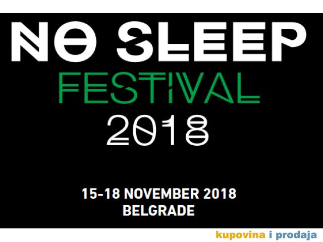 4 festivalske ulaznice za No Sleep Festival 2018