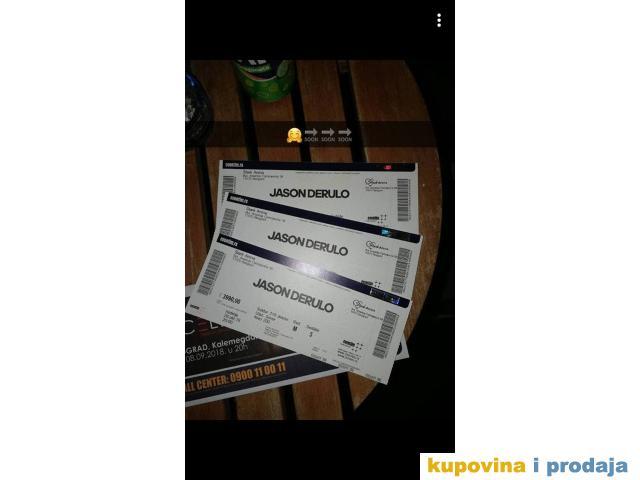 Prodajem kartu za koncert Jason Derula