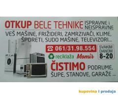Otkup bele tehnike Beograd Novi Beograd Zemun i okolina