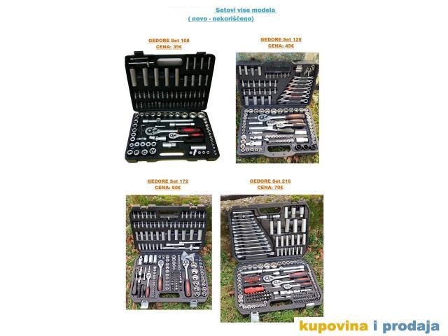 Veliki izbor setova alata i gedora,NOVO