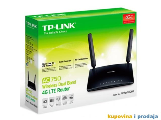 Ruter TP-LINK AC7d 450 Wireless Dual BanG LTE Router Archer MR200 Wireless,