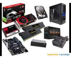 OTKUP PC Komponenti matičnih ploča, procesora, memorija, grafičkih kartica, hard diskova