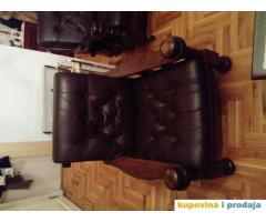 Fotelja drvo-koža