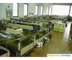 10-tobojna sito mašina za štampanje tekstila