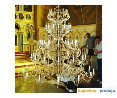 Kristalni lusteri,ručna izrada unikatnih lustera