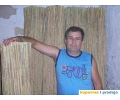 Pletena TRSKA za dekoraciju kafica, tenda, ograda, suncobrana...