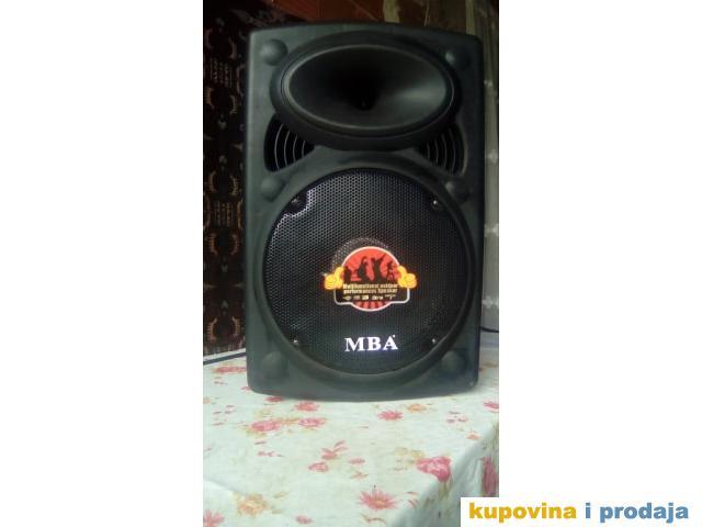 MBA bluetooth zvucnik, 12inch, USB, SD, karaoke, FM, 120W