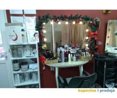 Izdajem kompletno opremljen frizersko kozmetički salon