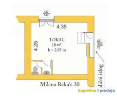 Zvezdara-Lion, lokal 18m2, izlog, 250 €, 063362524, vlasnik