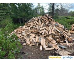 Sušeno kvalitetno drvo za ogrjev / hrastova drva / bukva