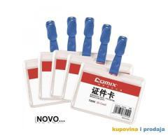 Bedž za ID kartice 99x67 sa plavom štipaljkom