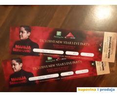 Prodajem dve karte za docek Nove godine u Holiday Inn-u, nastupa Marija Serifovic