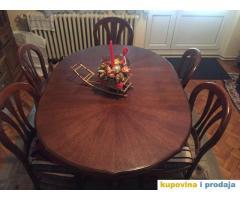 trpezarijski sto sa sest stolica