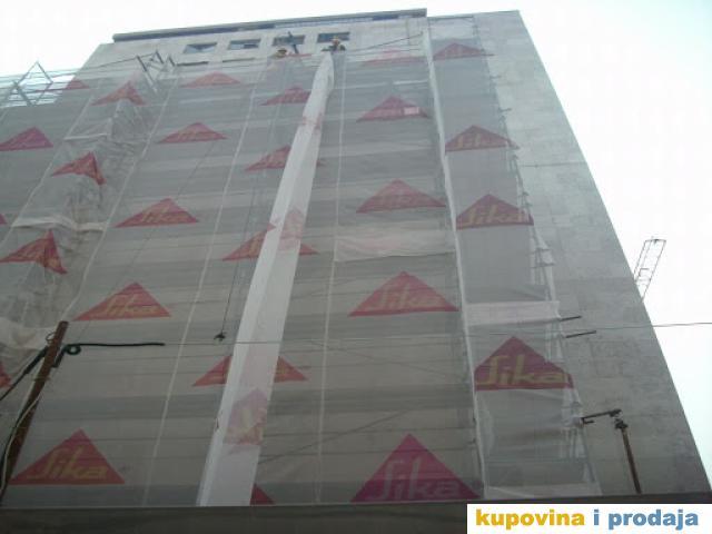 Mreza -zastitno  platno za skelu PVC 2x100m - NOVO