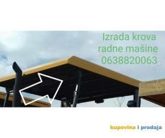 Izrada krovova radnih mašina od poliestera