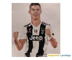 Portret Cristiano Ronaldo uramljeno
