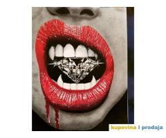 Portret Dijamant u ustima uramljeno