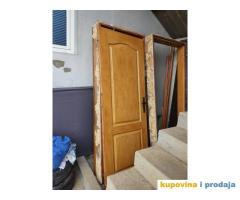 Polovna drvena vrata sa i bez stakla_neoštećena